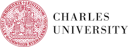 Charles university red and white logo